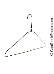 Clothes Hanger with white background