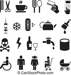 Set of vector icons - Set of simple vector icons Isolated...