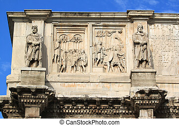 Triumphal arch - Arch of Constantine in Rome (Italy)