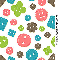 Seamless button pattern - Seamlessly tileable, colorful...