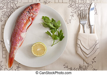 Mullet with Lemon and Parsley