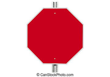 Blank Stop Sign Isolated - Blank stop sign isolated on...