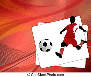 Soccer background, vector illustration