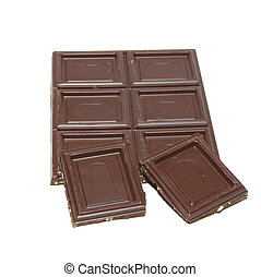 Chocolate isolated on white.