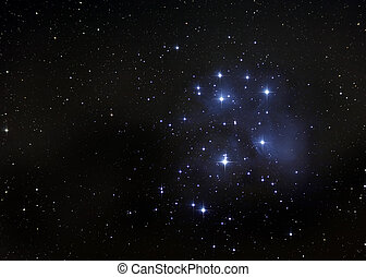 The Pleiades, or Seven Sisters of Greek Mythology