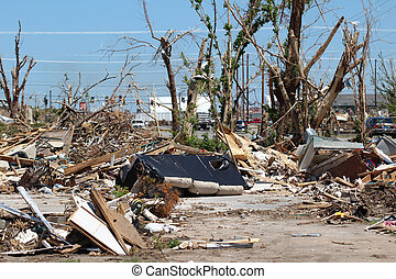 Tornado Damage Landscape - EF5 is the strongest rating of...