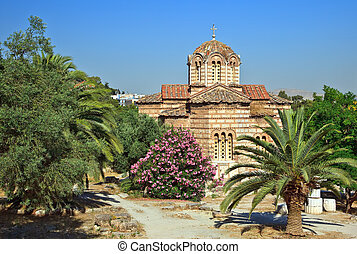 Church in Ancient Agora, Athens - Byzantine Church the Holy...