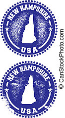 New Hampshire USA Stamps - A couple of distressed stamps...