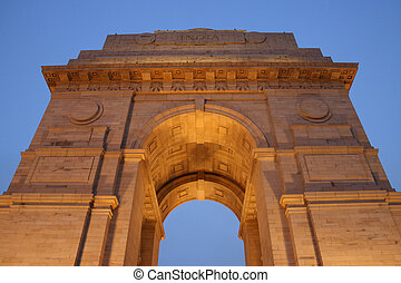 India Gate - View of India Gate from below of the memorial