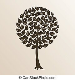 Park trees9 - Tree with a roundish crone. A vector...