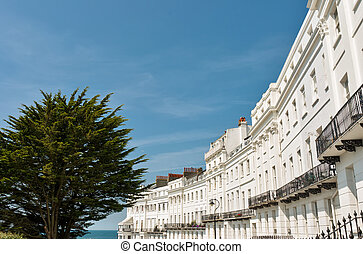 Regency architecture, Brighton - Crescent of regency period...