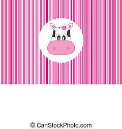 greeting card. Cow