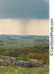 Rain on the horizon Ukraine, Crimea, Karabi plateau