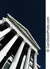 courthouse with special photographic processing in summer