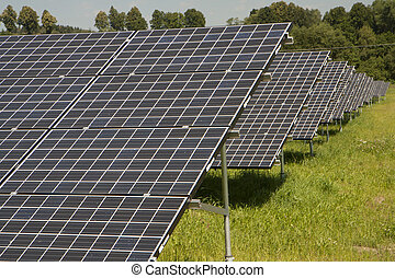 Solar panels in the country