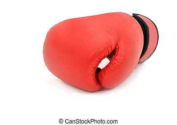 boxing glove - Red boxing glove on white background