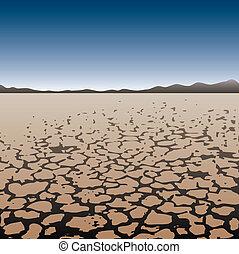 dry land in desert