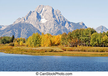Oxbow Bend in Autumn - Oxbow Bend in Grand Teton National...