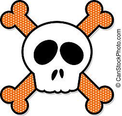 Skull and Crossbones - Fun cartoon of skull and crossbones,...