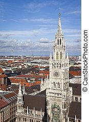 city hall munich - An image of the city hall of Munich...