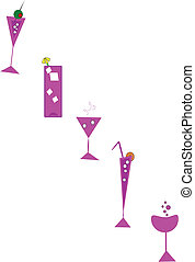 retro drink elements - elements in retro style from 50's for...