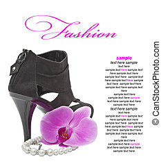 High heeled  black shoe
