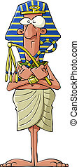 Pharaoh on a white background, vector illustration