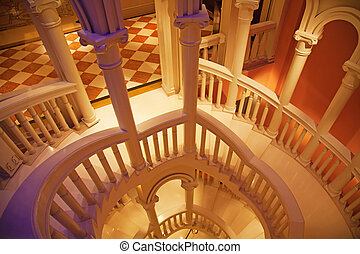 stairway An interior of venetian style palace