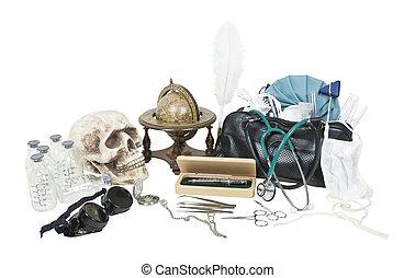 Vintge Medical Items on Desk