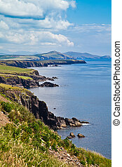 Coast at Dingle Peninsula - Summer landscape on the coast of...