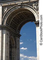 Arc the Triomphe, Paris Blue sky