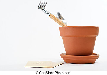 Plant Pot with Seeds and Tools