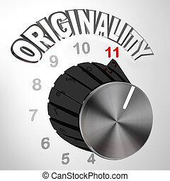 Originality Dial Knob Turned to Max - Innovative Invention