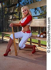 Sexy baseball girl