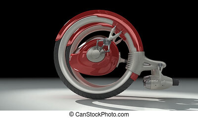 3D futuristic concept vehicle - 3D red futuristic concept...