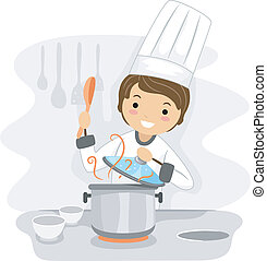 Chef - Illustration of a Chef at Work