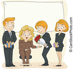 Retirement Party - Illustration of a Retirement Party