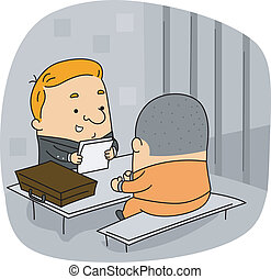 Lawyer - Illustration of a Lawyer at Work