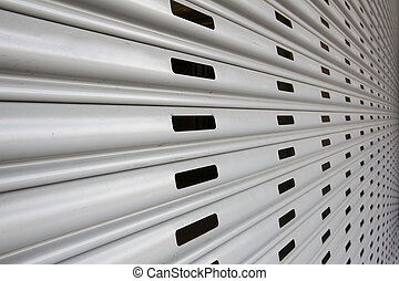 Security Gate Perspective - Garage perforated security gate...