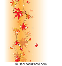 Colorful autumn leaves seamless pattern