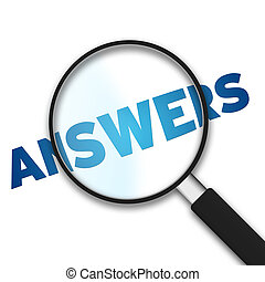 Magnifying Glass - Answers - Magnifying Glass with the word...