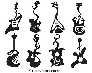 abstract guitar - some abstract designed guitar pattern