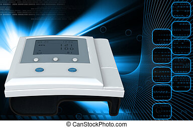 Blood pressure monitor - Digital illustration of blood...