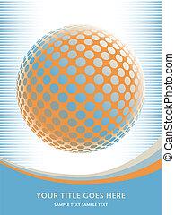 Colorful globe design. - Colorful globe design with copy...