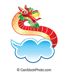 Chinese dragon at the sky