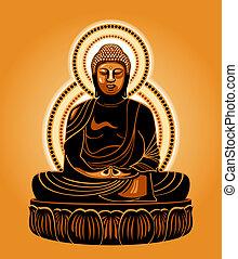 Japanese Buddha - Buddha Amitabha (The Buddha of Infinite...