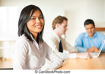 Attractive Asian Businesswoman Meeting - An attractive Asian...