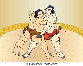 sumo, Luchadores