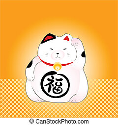 Lucky cat - Classic japanese maneki-neko (lucky cat)