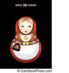 Matryoshka Norway - Matryoshkas of the World: norwegian girl...
